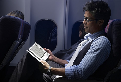 ereader on the plane